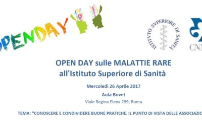 OPEN DAY Malattie RARE – ISS-CNMR